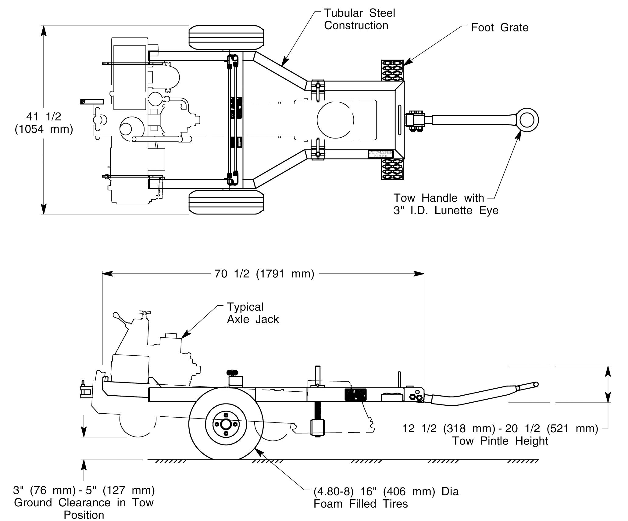 model 8817a axle jack transporter rh malabar com